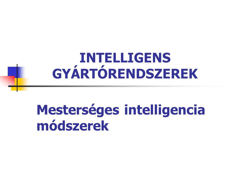 INTELLIGENS GYÁRTÓRENDSZEREK Mesterséges intelligencia módszerek
