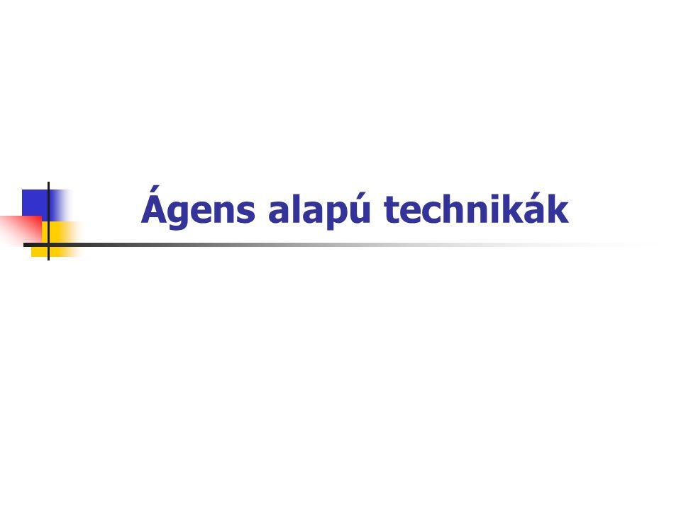 Reflexszerű ágensek feltétel-cselekvés szabályok vezérlik (pl.
