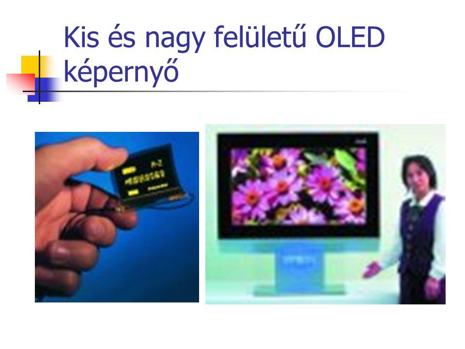 Kis és nagy felületű OLED képernyő