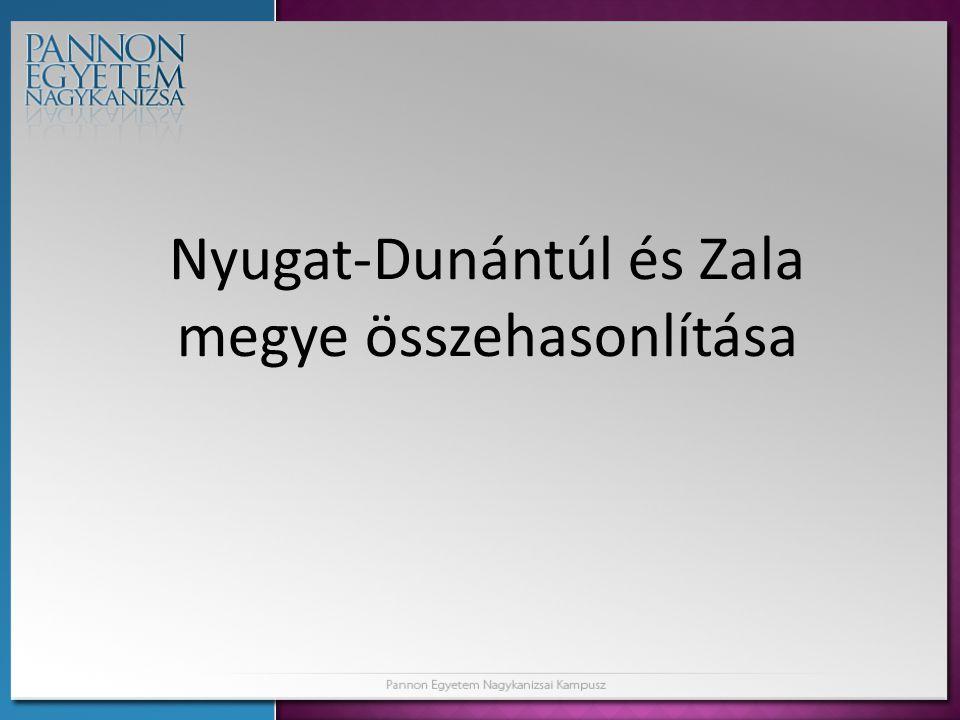 Nyugat-Dunántúl és Zala megye összehasonlítása