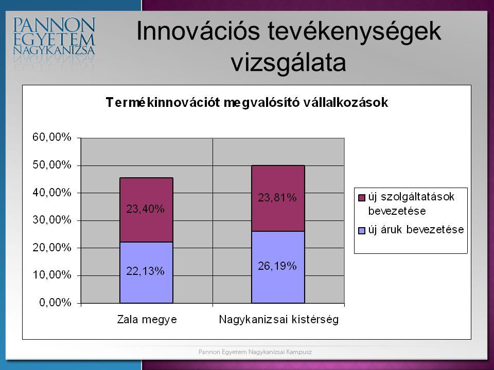 Innovációs tevékenységek vizsgálata