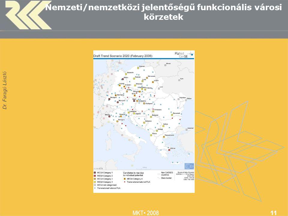 Dr. Faragó László MKT 2008 11 Nemzeti/nemzetközi jelentőségű funkcionális városi körzetek