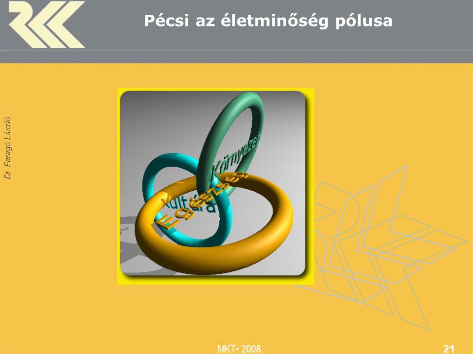 Dr. Faragó László MKT 2008 21 Pécsi az életminőség pólusa