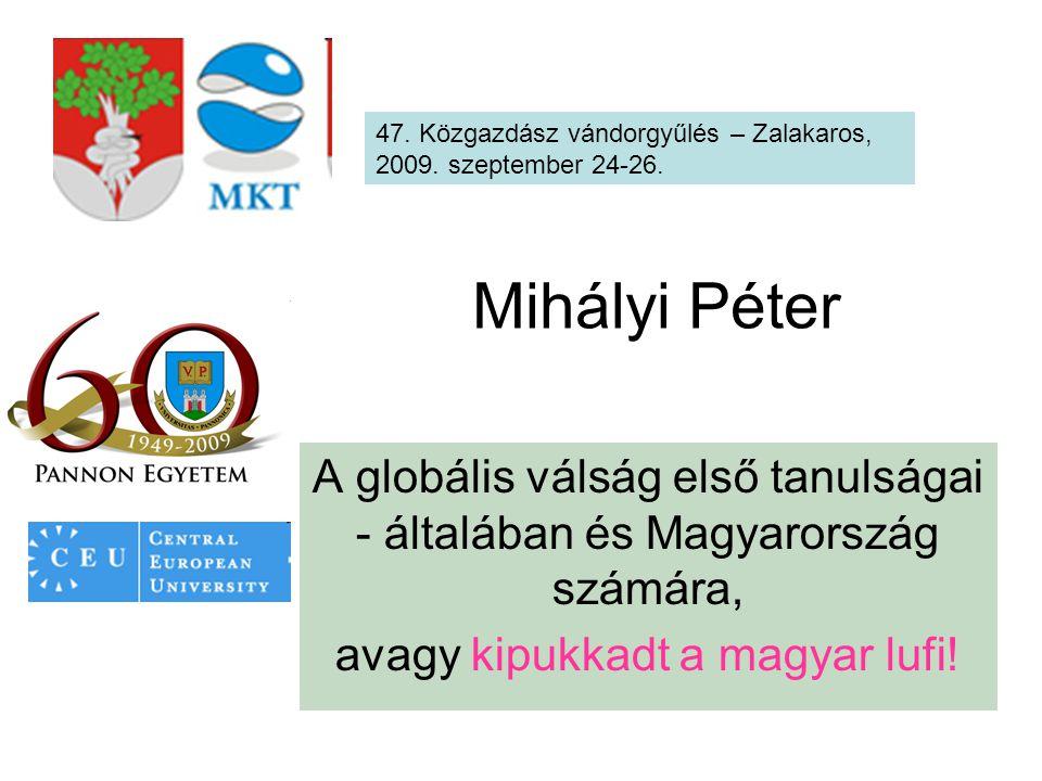Mihályi Péter A globális válság első tanulságai - általában és Magyarország számára, avagy kipukkadt a magyar lufi.