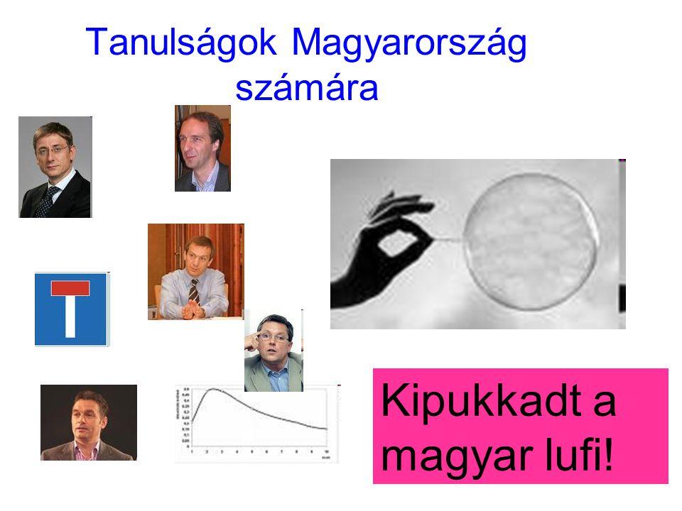 19 Tanulságok Magyarország számára Kipukkadt a magyar lufi!