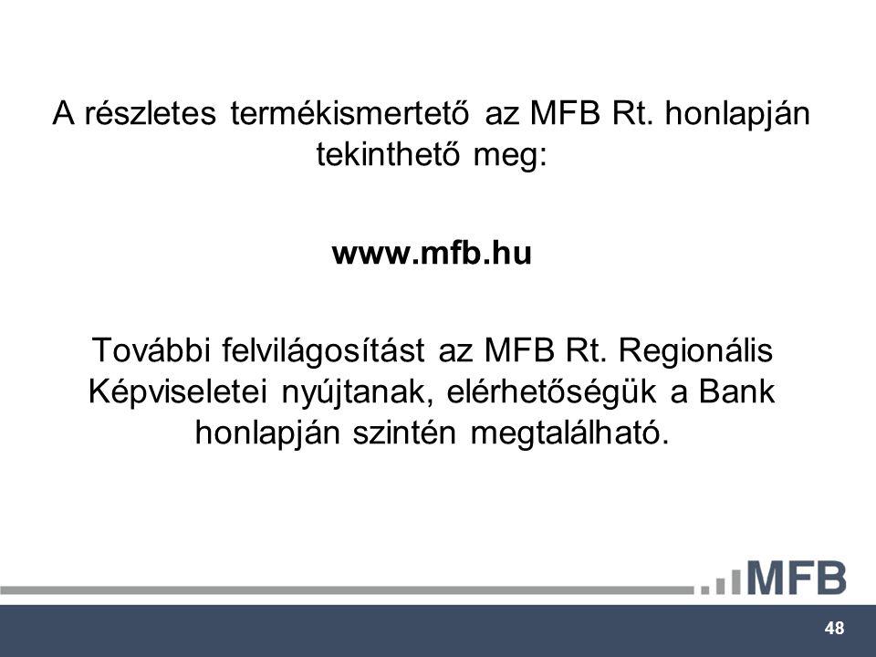 48 A részletes termékismertető az MFB Rt.