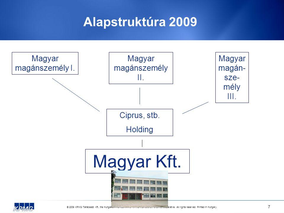 © 2009 KPMG Tanácsadó Kft., the Hungarian member firm of KPMG International, a Swiss cooperative.