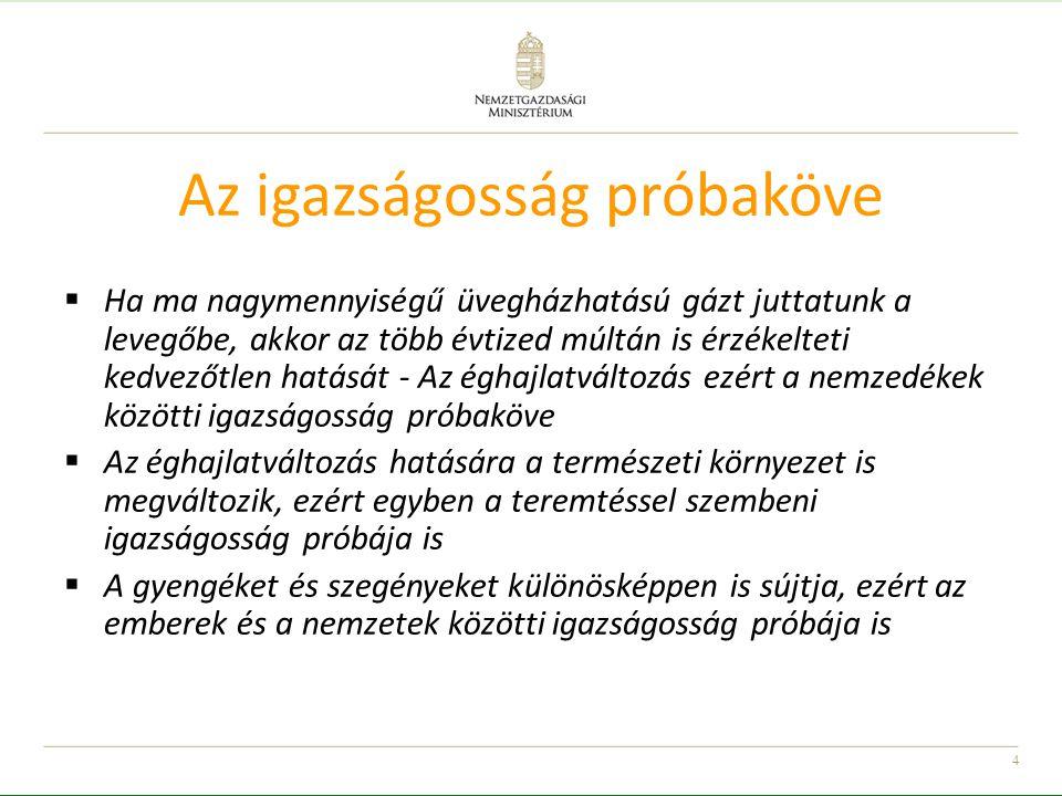 5 A klímaváltozás, nemzetbiztonsági kérdés  Az elsődleges szempont azon képességek fejlesztése lesz, amelyek segítségével a romló életkörülmények is túlélhetőek lesznek, és amelyekkel hosszútávon is biztosítható az egyén és a közösség fennmaradása  A magyar lakosságot és gazdaságot fel kell készíteni egy melegebb és szárazabb időszakra, illetve a szélsőséges időjárási jelenségekre, és ezek következményeire  Az egyes régiók, kistérségek, települési típusok, társadalmi csoportok nem egyformán sérülékenyek