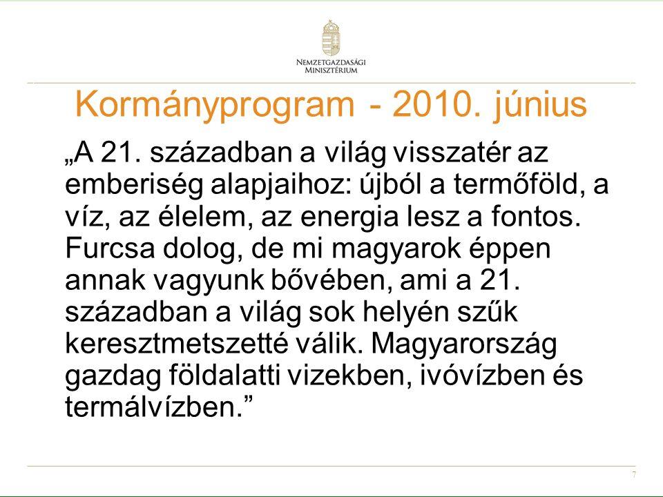 8 Kormányprogram – 2010.