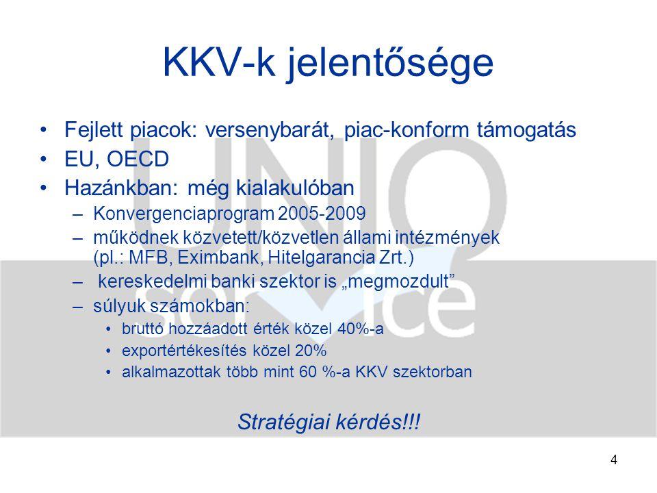 5 A KKV szektor jellemzői l.