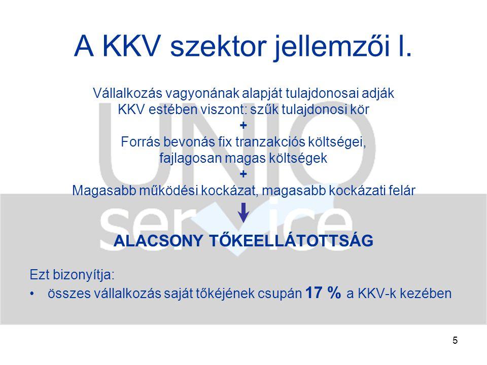 6 A KKV szektor jellemzői ll.