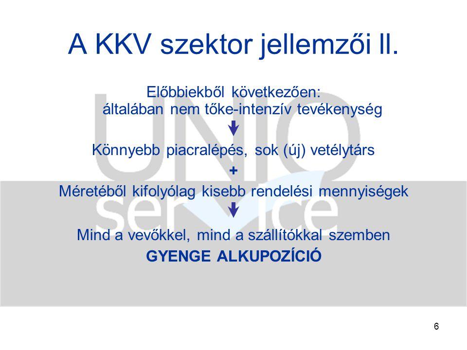 7 A KKV szektor jellemzői lll.