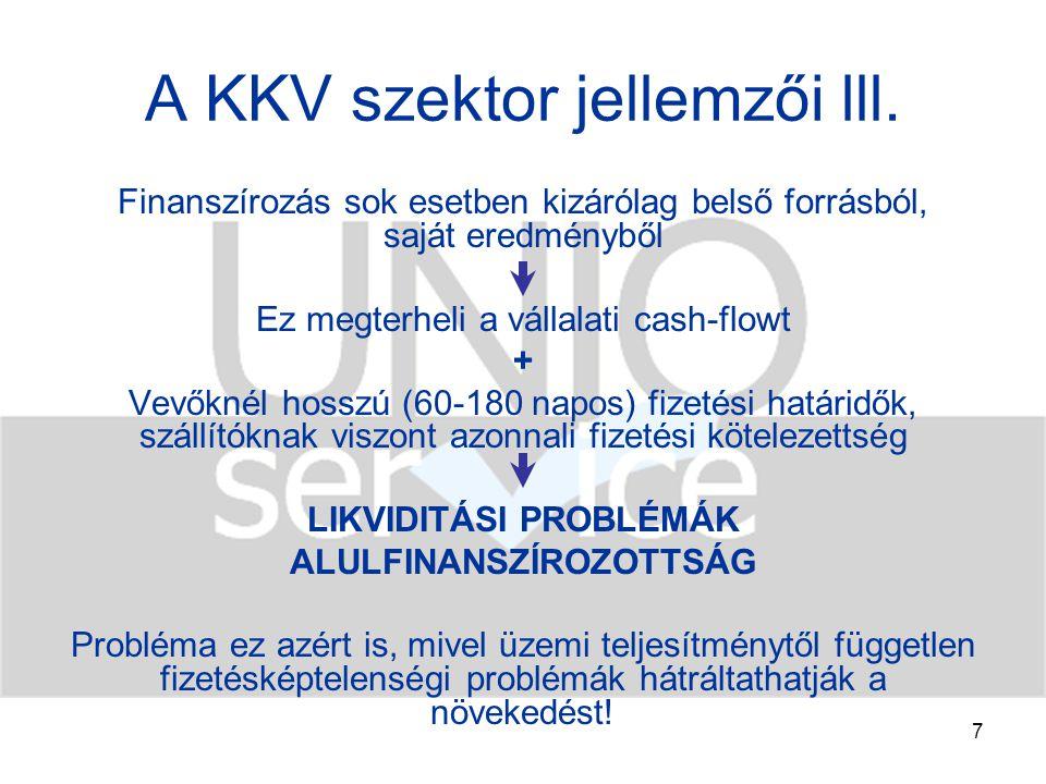 8 A KKV szektor jellemzői lV.