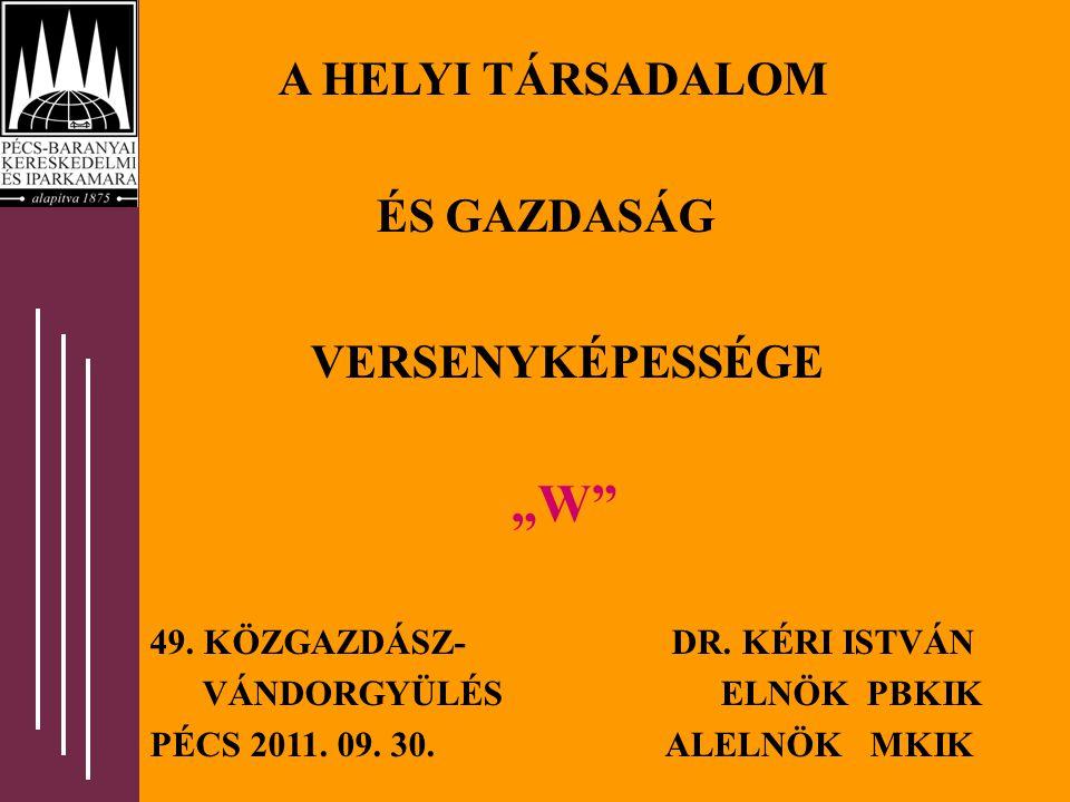"""A HELYI TÁRSADALOM ÉS GAZDASÁG VERSENYKÉPESSÉGE """"W 49."""