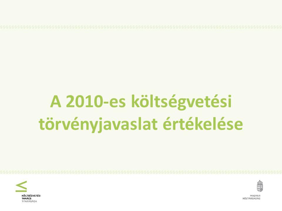 A 2010-es költségvetési törvényjavaslat értékelése