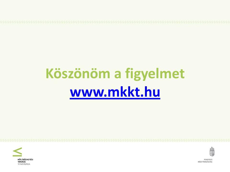 Köszönöm a figyelmet www.mkkt.hu www.mkkt.hu