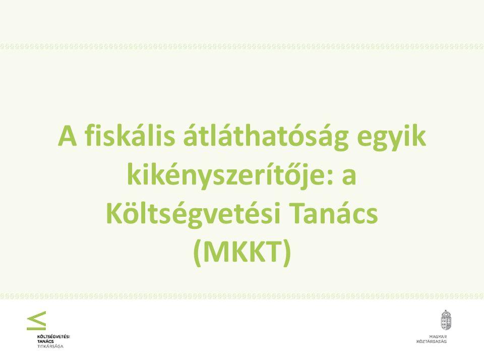 A fiskális átláthatóság egyik kikényszerítője: a Költségvetési Tanács (MKKT)