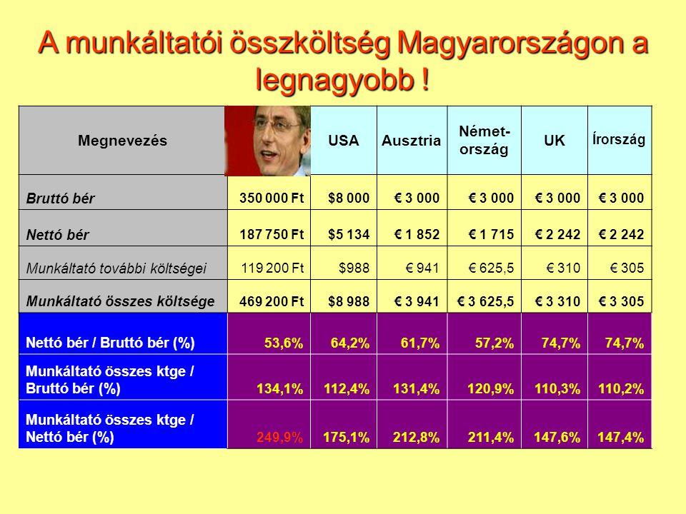 Megnevezés (eFt)ABCDEF Egy főre eső árbevétel37 35050 23654 33635 46121 17324 488 Egy főre eső ÉVES bérköltség1 7205 4422 2201 0941 577622 Igénybevett szolg./ Bérköltség686%264,9%180,2%1671,2%227,6%400,6% Bérköltség / Árbevétel4,61%10,83%4,09%3,09%7,45%2,54% Élet a magyar IT szektorban…