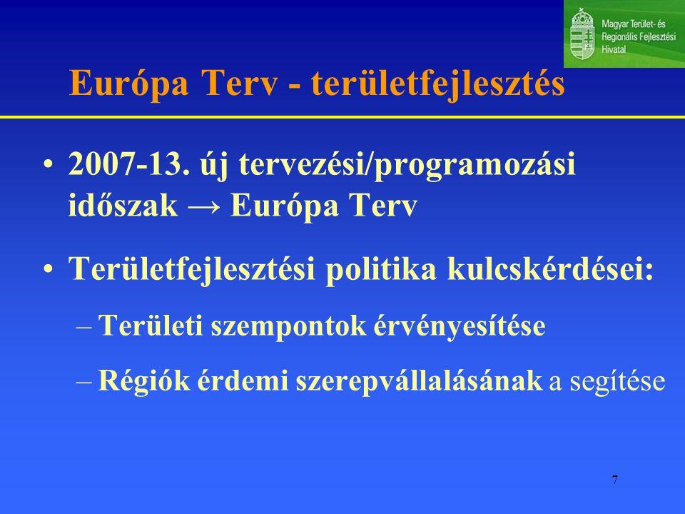 7 Európa Terv - területfejlesztés 2007-13.