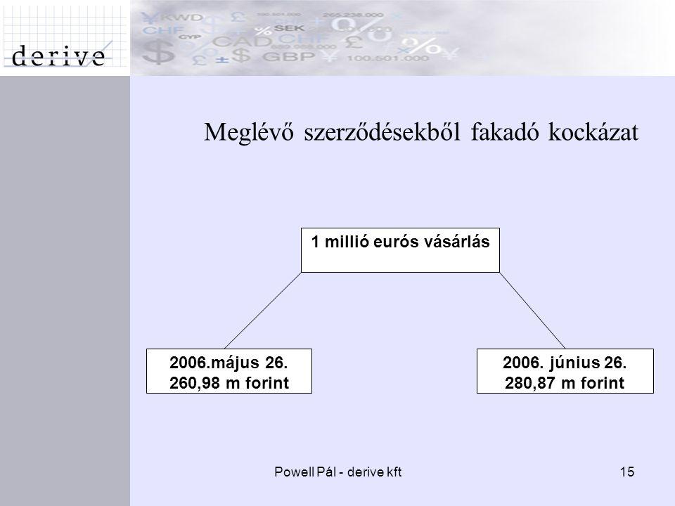 Powell Pál - derive kft15 Meglévő szerződésekből fakadó kockázat 2006.május 26.