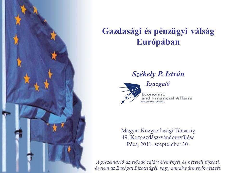 2  Gazdasági és pénzügyi válság Világgazdaságban Európában Európa perifériáján  Okok és következmények, gazdaságpolitikai válasz Egyensúly hiánya, eszközár buborék Pénzügyi rendszer válsága Növekedés, szerkezet változás Gazdaságpolitika és reformok Az Európai Bizottság szerepe