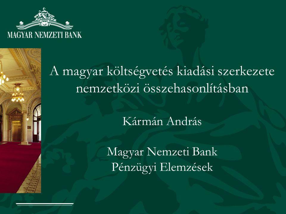 Áttekintés I.Magas-e a magyar költségvetés kiadási szintje nemzetközi összehasonlításban.