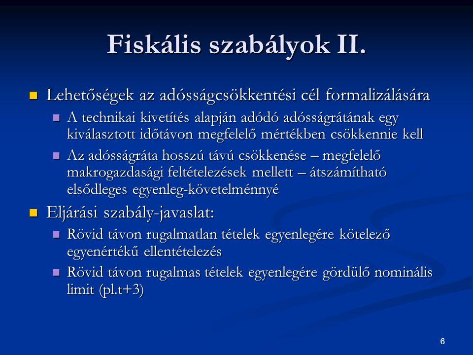 6 Fiskális szabályok II.