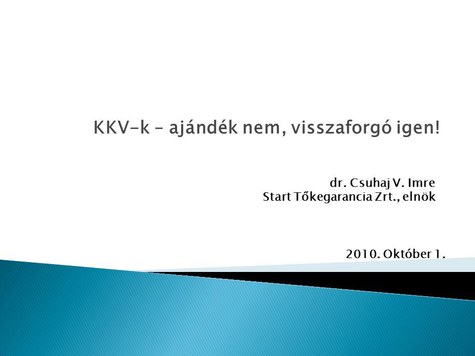 KKV-k – ajándék nem, visszaforgó igen. dr. Csuhaj V.