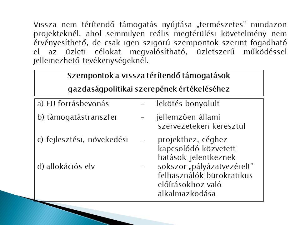 IV.Pénzügyi lehetőségek és korlátok 1.Korlátok ● A Gazdaságfejlesztési Operatív Programban (GOP) 2011.