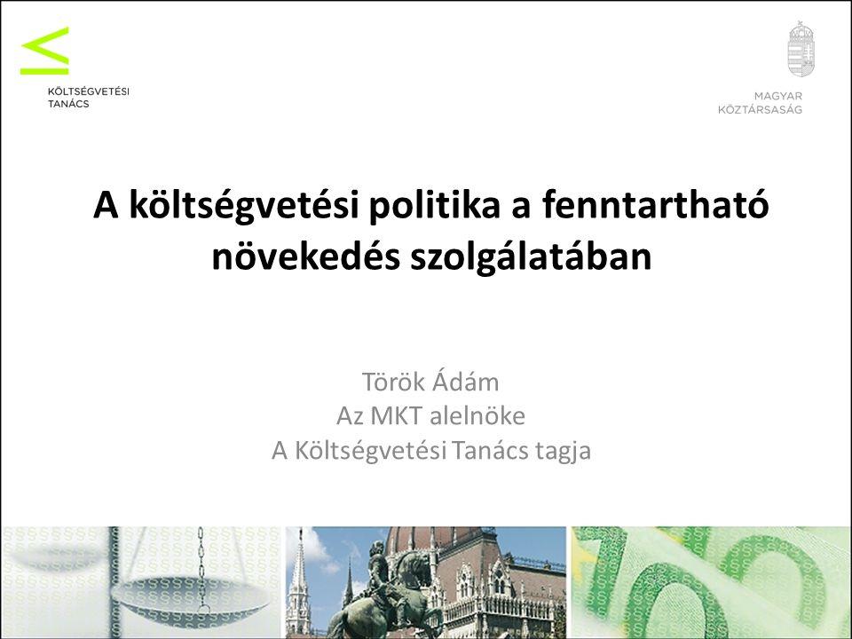 Magyar kilátások Fokozott nemzetközi figyelem a magyar fiskális teljesítmény és átláthatóság iránt –több irányból: EU, nemzetközi piacok, hitelminősítők Első próbatételek: 2011-es költségvetés középtávú fiskális stratégia (reáladósság-szabály!) –hihetőség/hitelesség, megalapozottság, fenntarthatóság A szabályok következetes betartása tartósan csökkenő adósságpályára állíthatja a gazdaságot