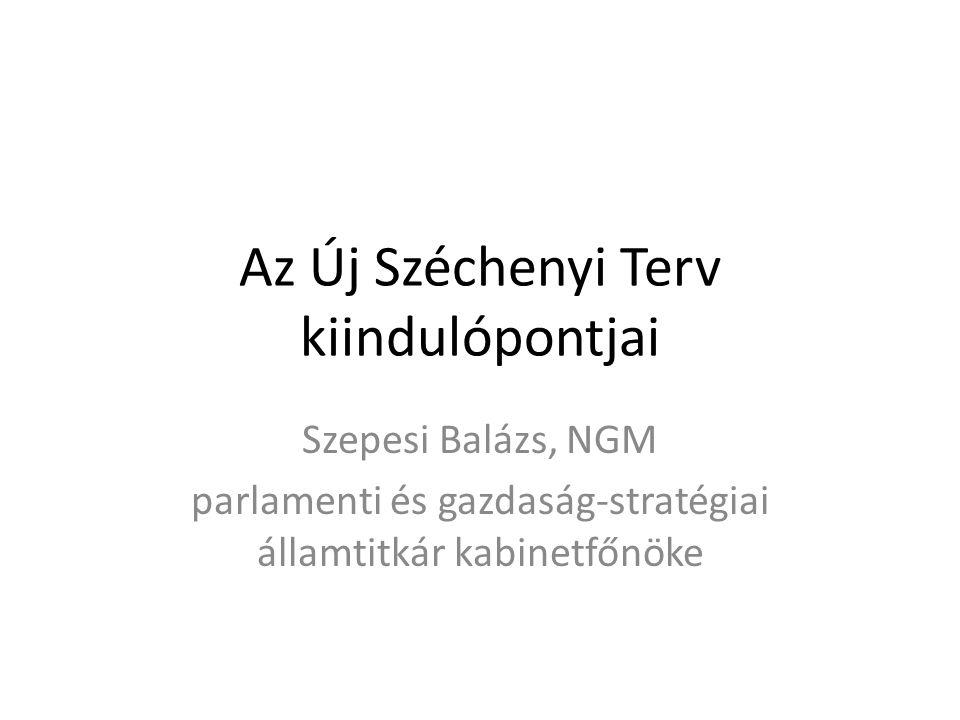 Az Új Széchenyi Terv kiindulópontjai Szepesi Balázs, NGM parlamenti és gazdaság-stratégiai államtitkár kabinetfőnöke