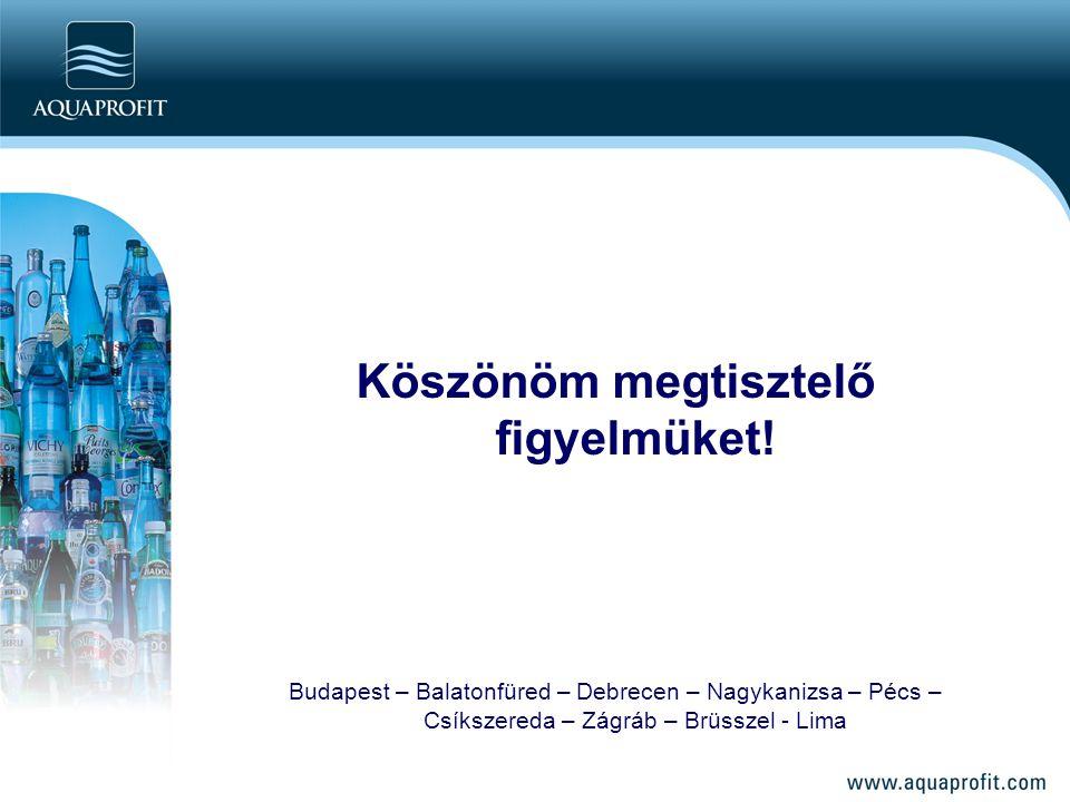 Köszönöm megtisztelő figyelmüket! Budapest – Balatonfüred – Debrecen – Nagykanizsa – Pécs – Csíkszereda – Zágráb – Brüsszel - Lima