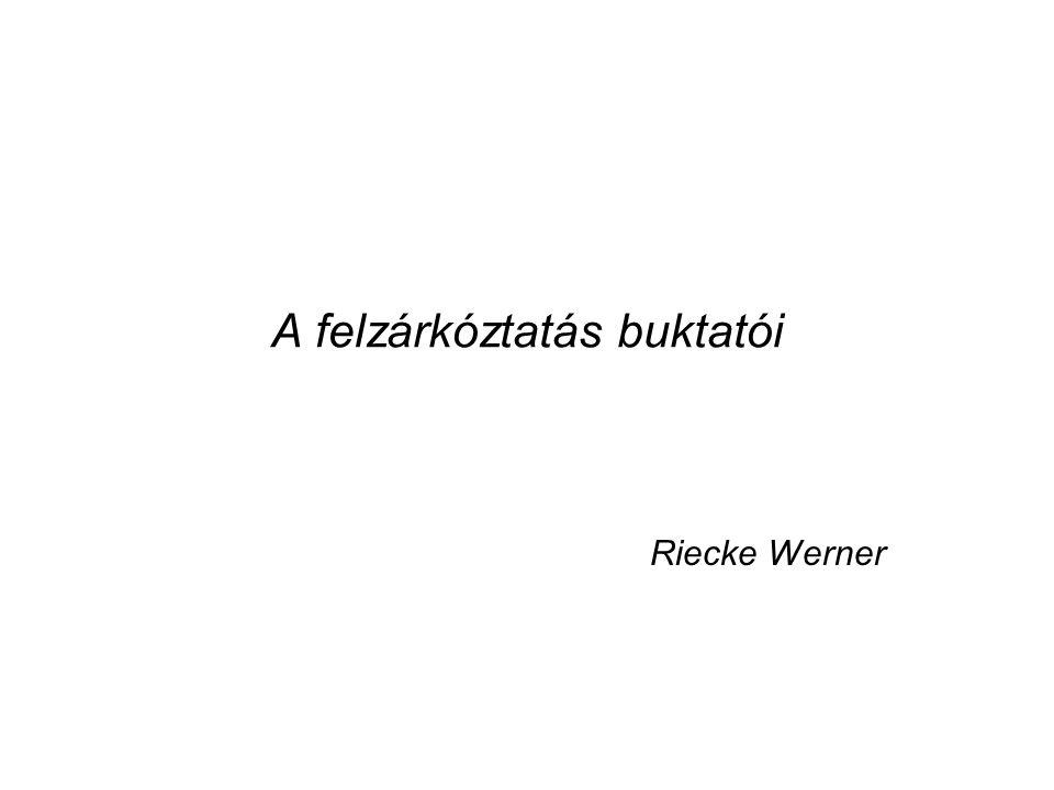 A felzárkóztatás buktatói Riecke Werner