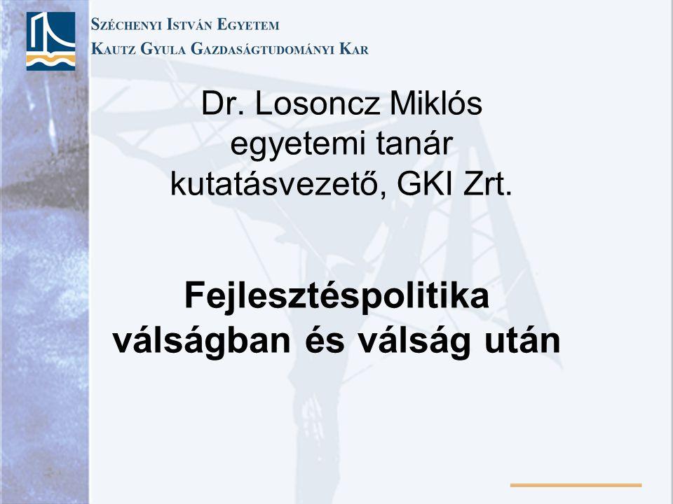 Dr. Losoncz Miklós egyetemi tanár kutatásvezető, GKI Zrt.