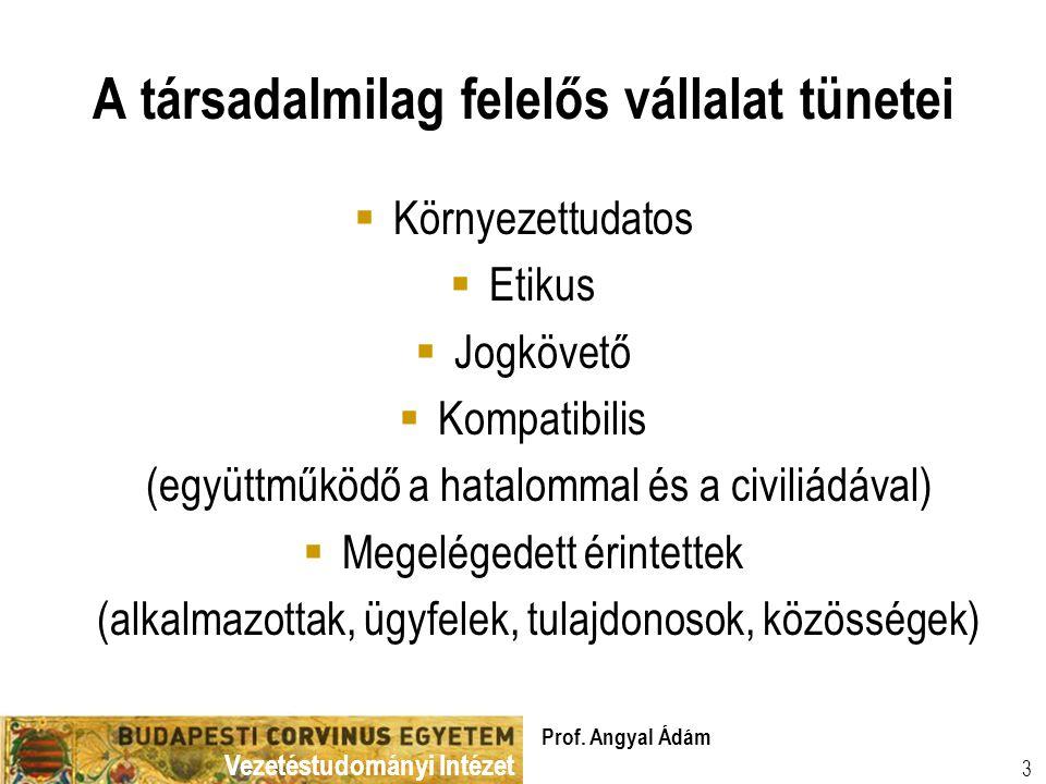 Vezetéstudományi Intézet Prof.