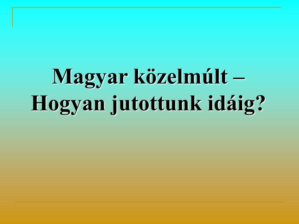 Magyar közelmúlt – Hogyan jutottunk idáig?