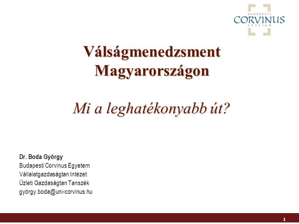 Válságmenedzsment Magyarországon Mi a leghatékonyabb út.