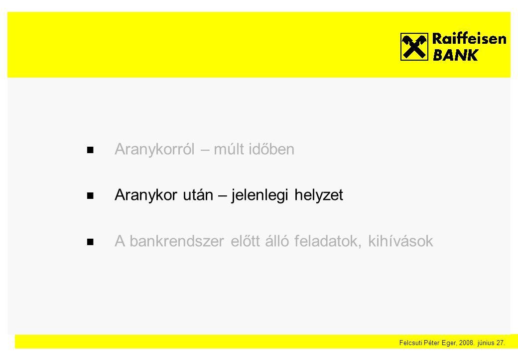 Felcsuti Péter Eger, 2008. június 27. Finanszírozási GAP – Bankszektor átlag