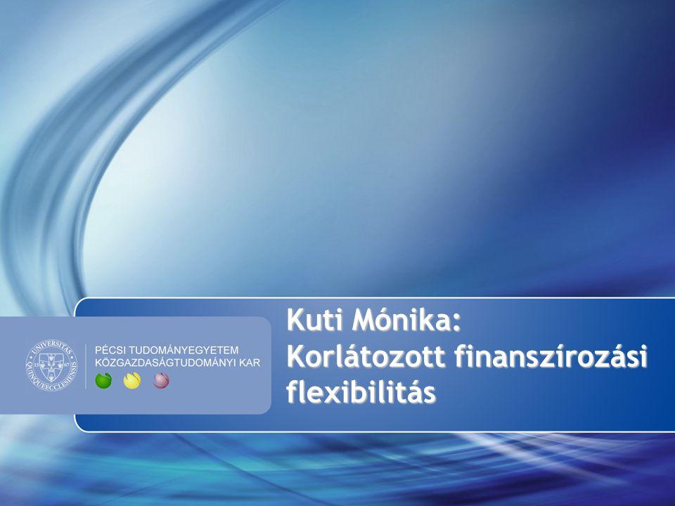 Kuti Mónika: Korlátozott finanszírozási flexibilitás