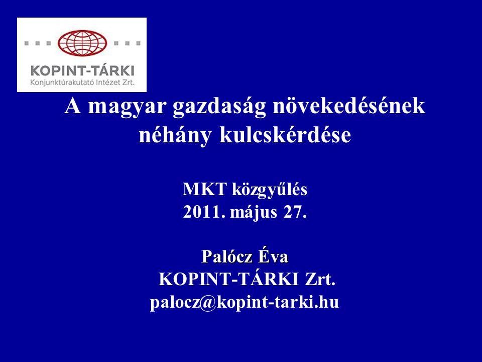 Palócz Éva A magyar gazdaság növekedésének néhány kulcskérdése MKT közgyűlés 2011.