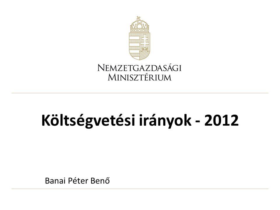 Költségvetési irányok - 2012 Banai Péter Benő