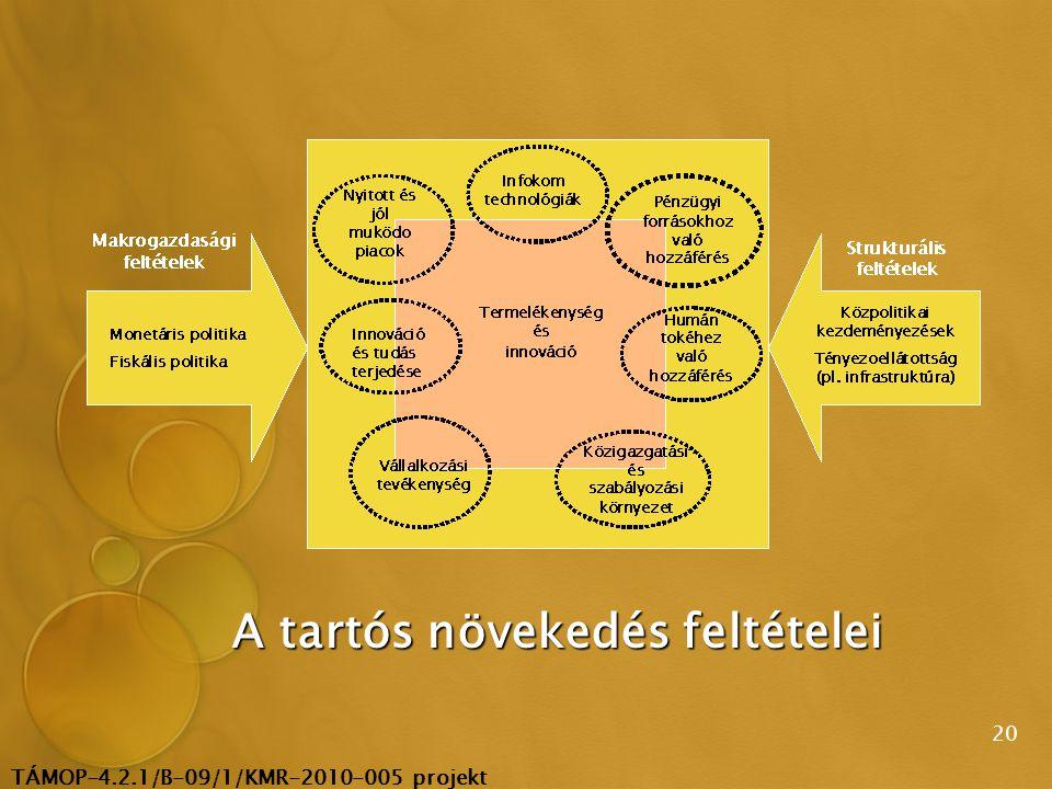 TÁMOP-4.2.1/B-09/1/KMR-2010-005 projekt 20 A tartós növekedés feltételei