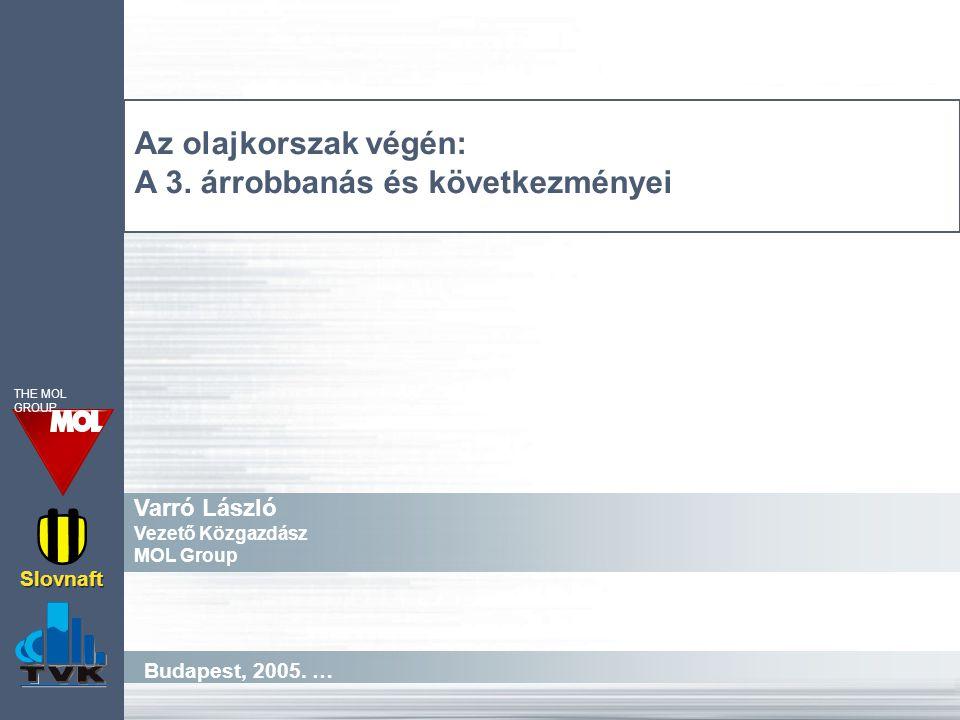 Budapest, 2005. … Slovnaft THE MOL GROUP Az olajkorszak végén: A 3.
