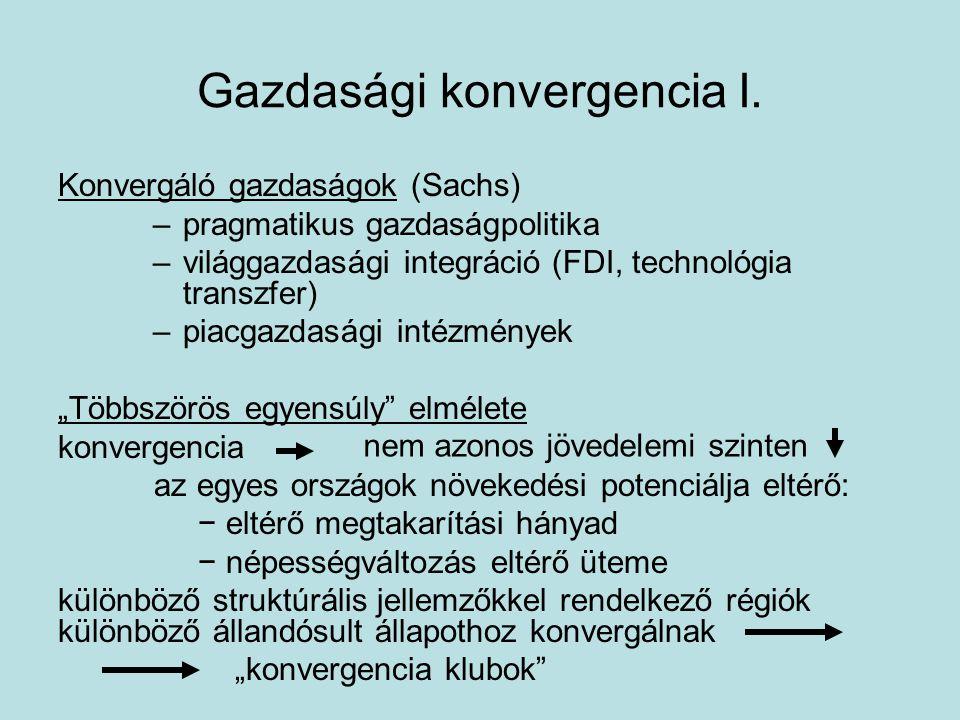 Gazdasági konvergencia II.