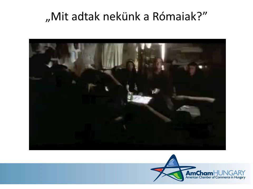 """""""Mit adtak nekünk a Rómaiak"""