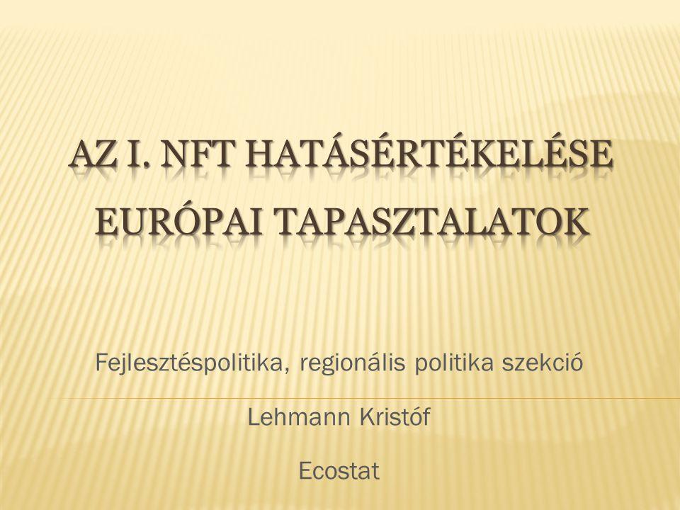 Fejlesztéspolitika, regionális politika szekció Lehmann Kristóf Ecostat