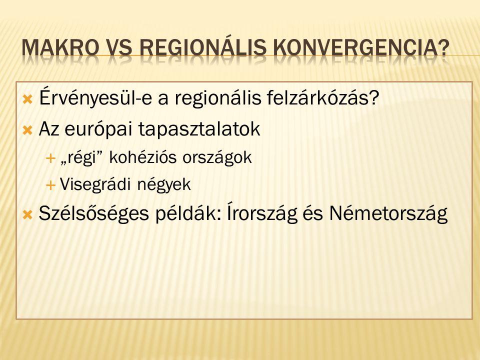  Érvényesül-e a regionális felzárkózás.