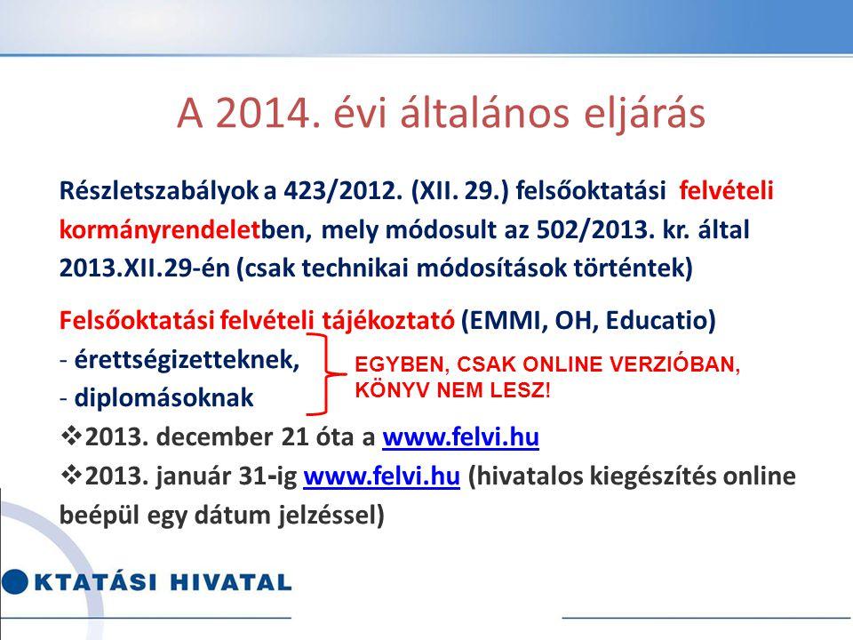 A felvételi eljárás menetrendje 02.15.02.23. 07.10.