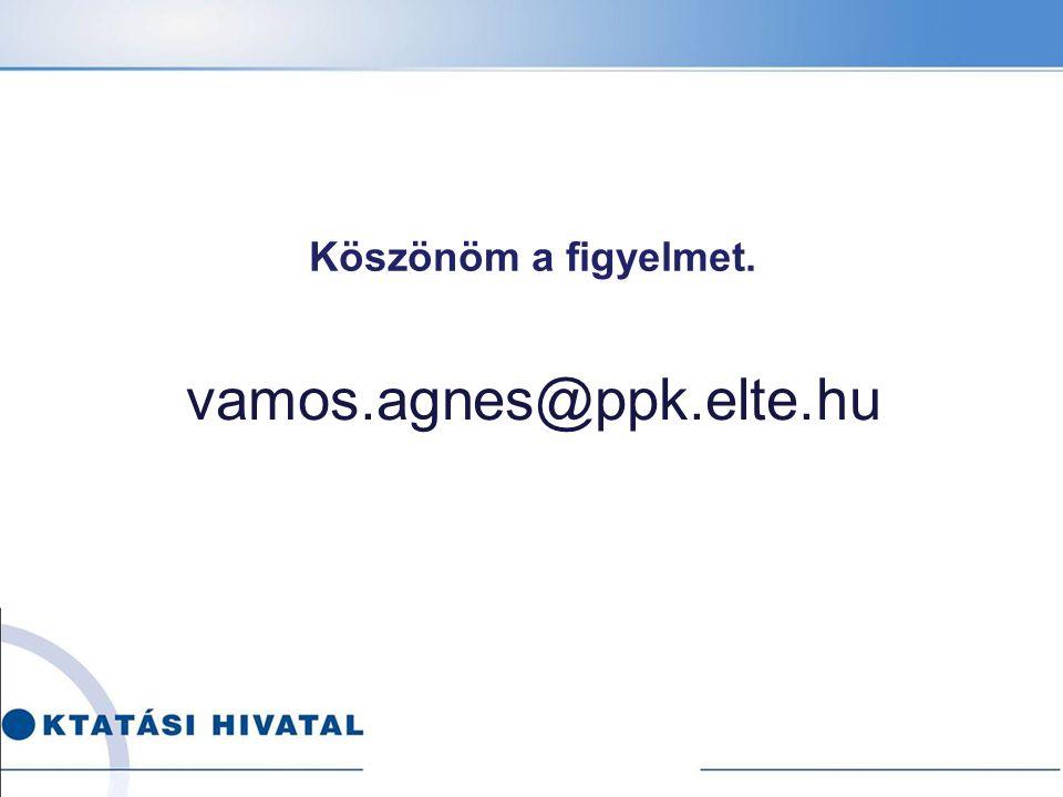 Köszönöm a figyelmet. vamos.agnes@ppk.elte.hu