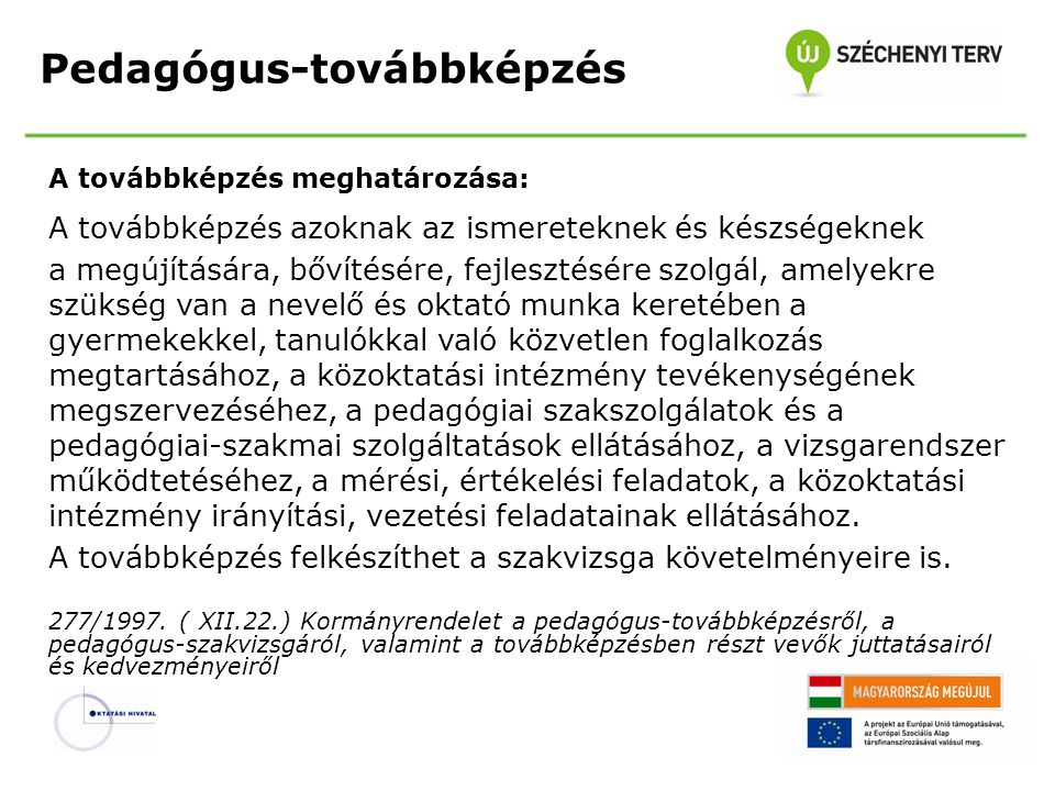 A 277/1997.( XII.22.) Korm. rend.